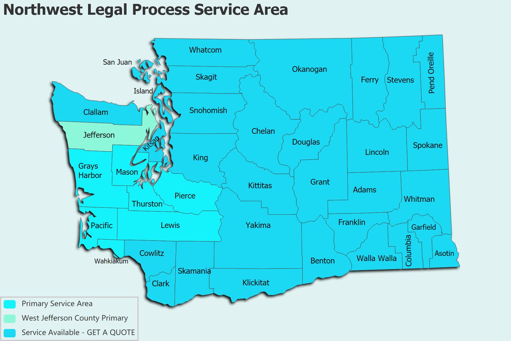Northwest Legal Process Service Area